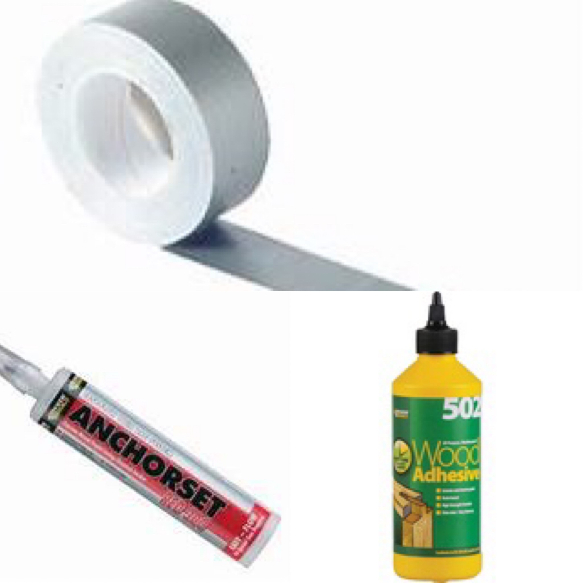 Adhesives, Glues & Tapes