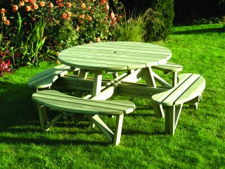 Round Table And Bench Seat
