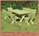 Country Style Table 1.800m x 0.900m  CST180