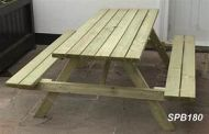 "1.800m Picnic Table – ""A"" Frame & Bench Seats SPB180"