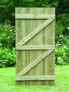 Tongue & Grooved Flat Top Gate 1.8m High x 0.9m Wide FTG180