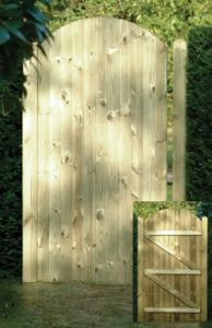 Tongue And Groove Gate Round Top 1.8m x 0.9m
