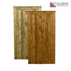 Country Closeboard Gate c/w capping