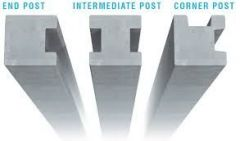 Heavy Duty Concrete Slotted Posts