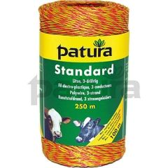 PATURA® Standard 3 Strand Polywire 250m (yellow-orange)