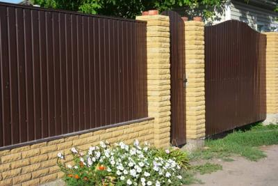 Attaching Fence Panels to A Brick Wall