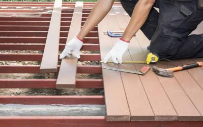 How to Build a Deck - Laying Deck Boards