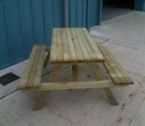 A-Frame Tables with Benches